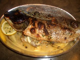 Whole Roasted Fish of the Day, Lemon, Thyme